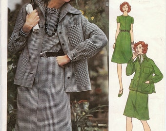 Vintage Vogue Americana Pattern 2933 - Chuck Howard - Misses Jacket & Dress - size 10