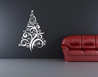 Christmas Wall Decal | Christmas Tree Decal | Vinyl Wall Decal | Christmas  Decor | Tree
