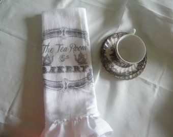 Tea Room & Bakery Flour Sack Tea Towel