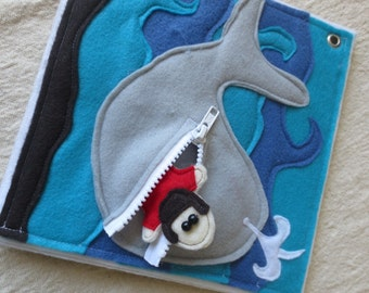PDF Pattern: Jonah and the Whale Bible Story Quiet Book Page