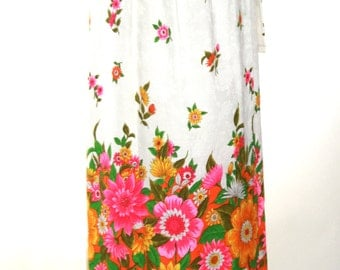 Mod Floral Print Wrap Skirt - Max - Size Small