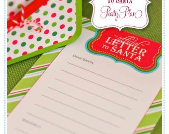 PARTY PLAN: Letters to Santa Party--A 40-Page eGuide to Help You Create the Perfect Party INSTANT Download + 10% off Party Supplies Coupon