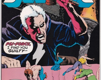 Vintage Justice Comic Volume 1 Number 30 April 1989 Marvel Comics - Justice - Psi-Force - Psycho Killer - Captain Brooklyn - Forsaken