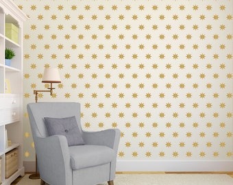Star Wall Pattern - Wall Decal Custom Vinyl Art Stickers for Homes, Schools, Remodelers, & Interior Designers