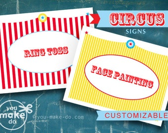 INSTANT DOWNLOAD carnival signs circus carnival birthday circus party carnival party circus carnival baby shower circus school carnival fair