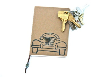 Road Trip  Mini Notebook Travel Journal Gift for him