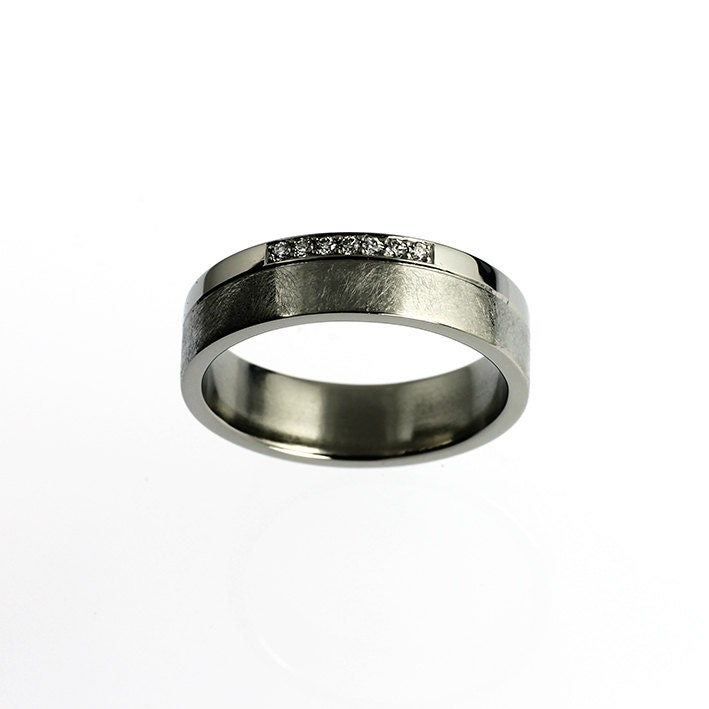 palladium wedding band ring mens by torkkelijewellery