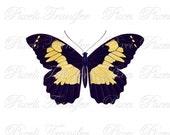 BUTTERFLY Instant Download Digital Downloads, printable butterfly illustration, butterflies wedding clipart PixelsTransfer 281