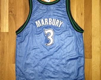 vintage stephon marbury champion jersey timberwolves reversible youth size XL