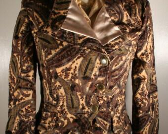 Victorian Steampunk paisley velveteen Blazer