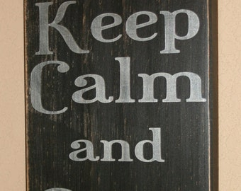Firefighter Sign, Firefighter Decor, Distressed Wood Sign, Firefighter Signs, First Responder Signs, Gear Up - Keep Calm And Gear Up
