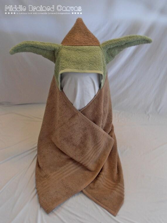 Yoda Geeky Baby Hooded Towel