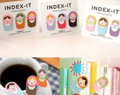 Set of 3 Matryoshka Memo Paper Index paper