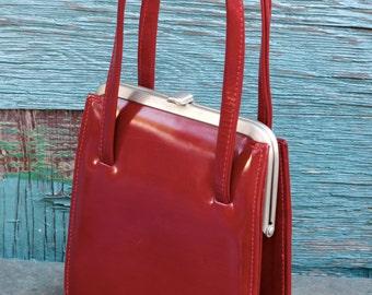 Red Patent Leather Handbag
