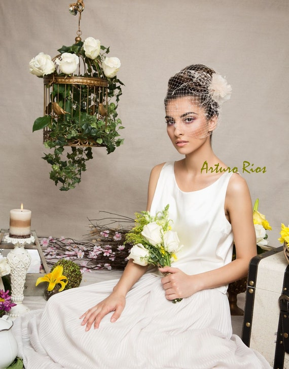 Items Similar To Vintage Inspired Birdcage Veil Headpiece