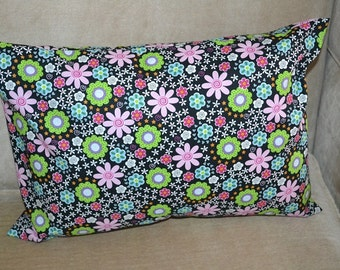 Travel Pillow Case / Child Pillow Case of VARIOUS SPRING FLOWERS