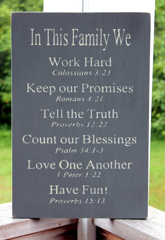 christian rules sign family rules sign religious family