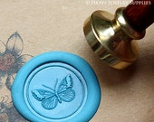 Buy 1 Get 1 Free - 1pcs Beautiful Butterfly Gold Plated Wax Seal Stamp (WS053)