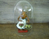 Glass Dome Large 8 Inch Glass Dome Cloche for Collectible Showcase Display