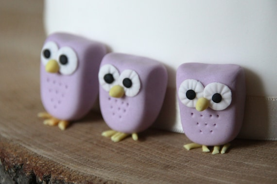 Edible Cake Image Owl : Items similar to Sugar fondant owl cake decoration, edible ...