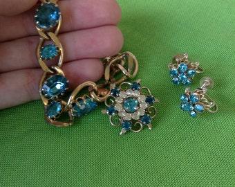 Vintage Bracelet, Brooch and Earrings (Item 450M)
