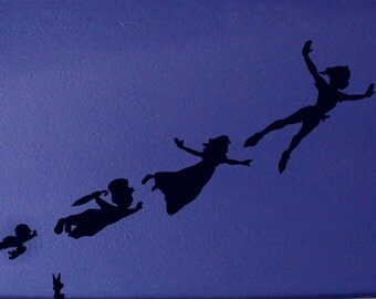 Peter Pan Shadow Wall Decals