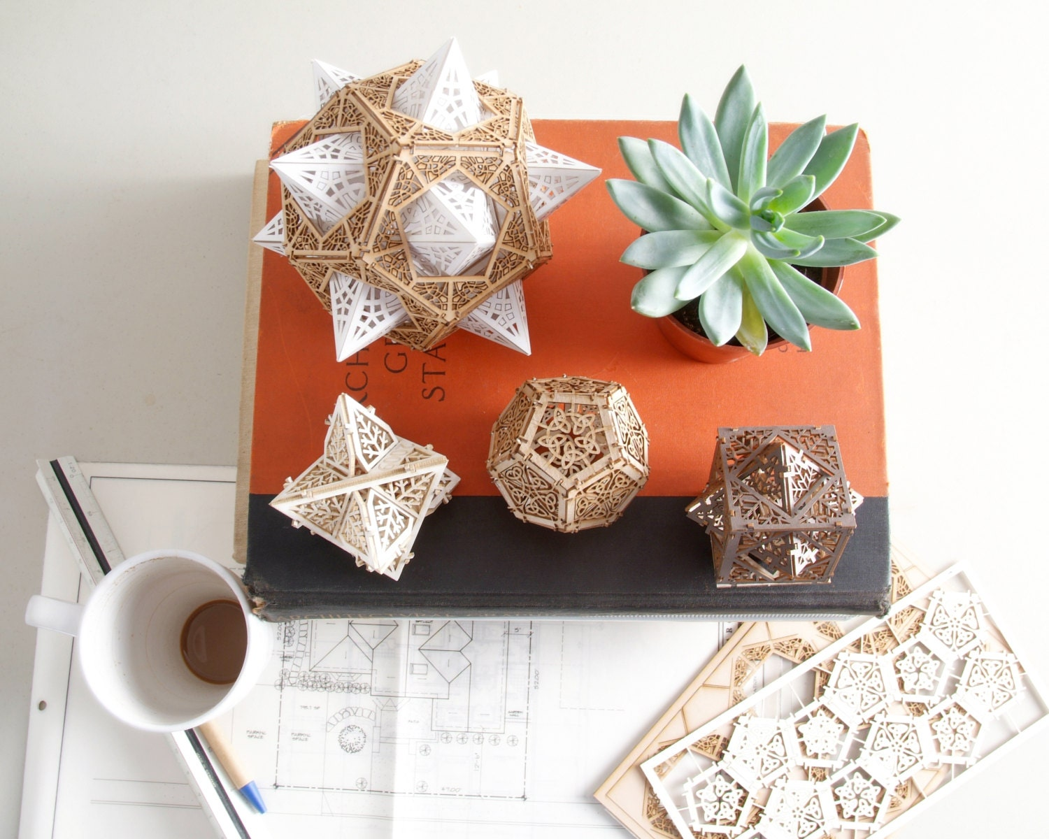 Sacred Geometry Model Kit 3 Small Orbs A Unique Gift Of