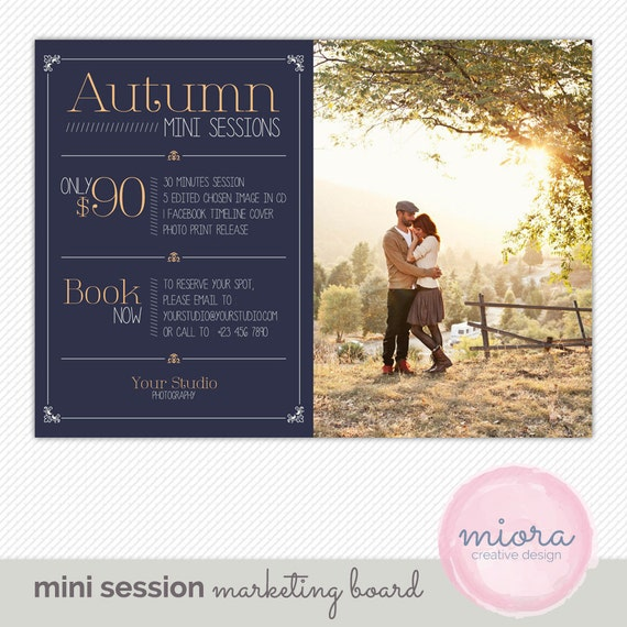 Fall autumn mini session photoshop template for by mioradesign for Free mini session templates for photography