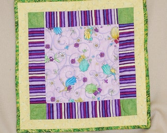 Fairies Doll Quilt - Hand Quilted
