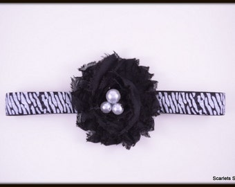 Black Zebra Headband - Baby Headband - Toddler Headband - Adult Headband