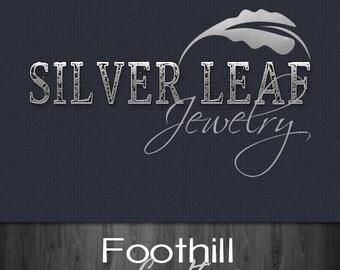 custom premade logo press letter font leaf design. Black Bedroom Furniture Sets. Home Design Ideas
