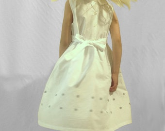 Elegant festival dress with hand embroidery