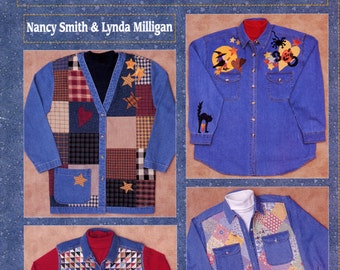 Decorating Denim Blues clothing adornment projects by Nancy Smith & Lynda Milligan (embellished clothing)