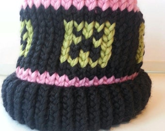 Girl's Minecraft Inspired Creeper Hat
