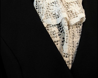 Havisham Lace Jabot by Kambriel - One of a Kind made from Elegant Antique Handmade Lace - Ready to Ship!