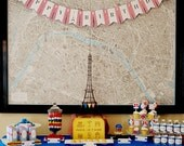 Madeline Birthday Party Package / Parisian - Eiffel Tower Paris, France - Madeline in Paris - DIY Printable Files (Partial Instant Download)