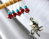 Octopus's Garden - Five Snag Free Stitch Markers - Fits Up To 5.5 mm (9.5 US) - Limited Edition
