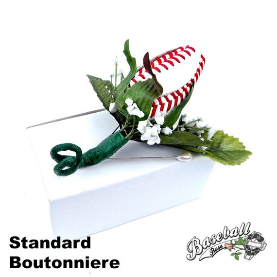 Baseball Rose Boutonniere or Corsage Stem
