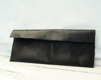 Classic black clutch