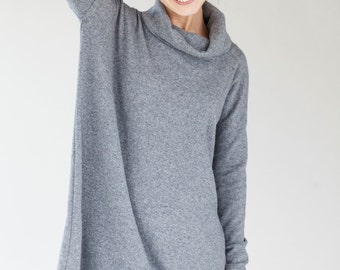 Oversized dress | Grey dress | Woolen dress | LeMuse oversized dress