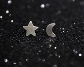 Night Sky Sterling Silver Stud Earrings