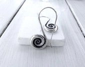 Sterling Silver Spiral Earrings, Greek Jewelry, Spiral Dangle Earrings, Minimalist Earrings,  Infinity Earrings, Spiral Hooks,Santorini