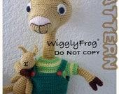 """Llama Llama & his Fuzzy Llama toy - Amigurumi Crochet PATTERN """"PDF file"""""""