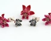 Milkweed Asclepias earrings -  Milkweed earrings sterling silver stud earrings