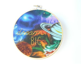 dream big embroidery hoop wall art