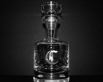Monogrammed Buckingham Whiskey Decanter - Groomsmen Gifts
