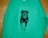 ROTTWEILER -- Coming&Going Sweatshirt -- Only three [3] Adult Unisex Sizes remain available:  1 Medium and 2 Large