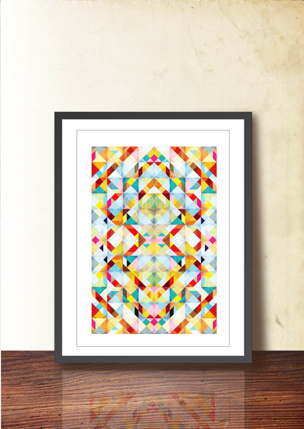 Geometric Design Wall Art : Tangram geometric art abstract wall decor illustration