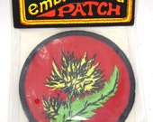Vintage Deadstock Embroidered Flower Patch 1970's