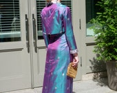 1960s Silk Gown NEW Gold Brocade Jacquard Empire Dress Cropped Jacket Custom Made
